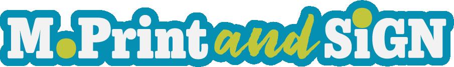 M.Print and Sign Horizontal Logo